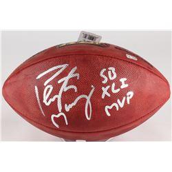 "Peyton Manning Signed Super Bowl XLI NFL Official Game Ball Inscribed ""SB XLI MVP"" (Fanatics Hologra"