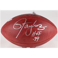 "Lawrence Taylor Signed Official NFL Game Ball Inscribed ""HOF '99"" (Radkte COA)"
