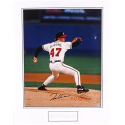 Tom Glavine Signed LE Braves 20x26 Custom Matted Photo (Upper Deck Hologram)