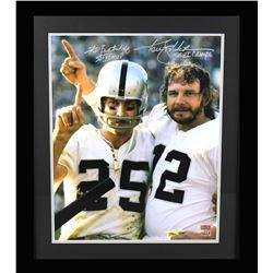 "Ken Stabler  Fred Biletnikoff Signed Raiders 23x27 Custom Framed Photo Display Inscribed ""SB XI MVP"""