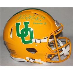 """Marcus Mariota Signed LE Oregon Ducks Full-Size Authentic On-Field Throwback Helmet Inscribed """"Heism"""