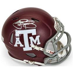 Johnny Manziel Signed Texas AM Aggies Mini Speed Helmet (Panini COA)