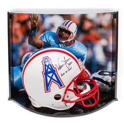 "Warren Moon Signed LE Oilers Full-Size Authentic Pro-Line Helmet Inscribed ""HOF 06""  ""Run-N-Shoot"" W"