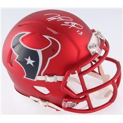 Will Fuller Signed Texans Blaze Mini Helmet (JSA COA)