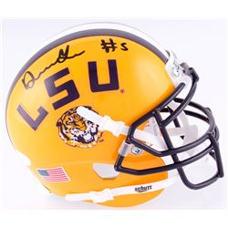 Derrius Guice Signed LSU Tigers Mini-Helmet (JSA COA)