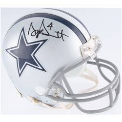 Dak Prescott Signed Cowboys Mini Helmet (JSA COA  Prescott Hologram)