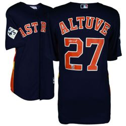 Jose Altuve Signed Astros Jersey with 2017 World Series Patch (Fanatics Hologram)