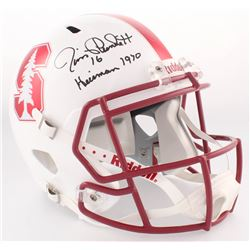 "Jim Plunkett Signed Stanford University Full-Size Speed Helmet Inscribed ""Heisman 1970"" (Radtke COA)"