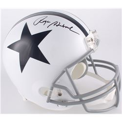 Roger Staubach Signed Dallas Cowboys Full-Size Throwback Helmet (JSA COA)