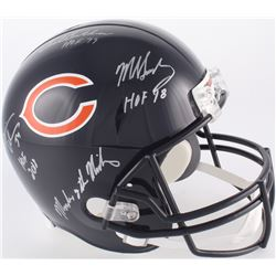 "Dick Butkus, Mike Singletary  Brian Urlacher Signed Chicago Bears Full-Size Helmet Inscribed ""HOF 98"