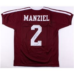 "Johnny Manziel Signed Jersey Inscribed ""'12 Heisman"" (JSA COA)"