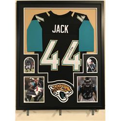 Myles Jack Signed 34x42 Custom Framed Jersey Display (JSA COA)