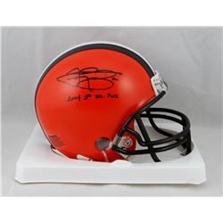 "Johnny Manziel Signed Browns Mini Helmet Inscribed ""2014 1st Rd. Pick"" (JSA COA)"