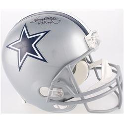 "Tony Dorsett Signed Dallas Cowboys Full-Size Helmet Inscribed ""HOF 94"" (JSA COA)"