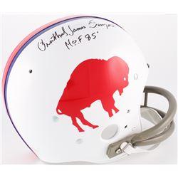 "O.J. Simpson Signed Bills Throwback Suspension Full-Size Helmet with Full Name ""Orenthal James Simps"