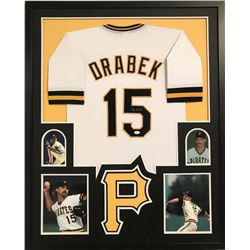 Doug Drabek Signed 34x42 Custom Framed Jersey Display (JSA COA)