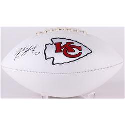 Kareem Hunt Signed Kansas City Chiefs Logo Football (Radtke COA)