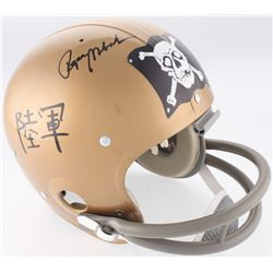 Roger Staubach Signed Navy Midshipmen Throwback Full-Size Suspension Helmet (JSA COA)