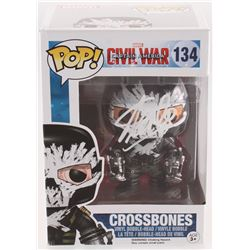 "Stan Lee Signed ""Captain America Civil War"" #134 Crossbones Funko Pop! Bobble-Head Figure (Lee Holog"