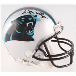 Wesley Walls Signed Panthers Mini-Helmet (Radtke COA)