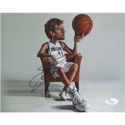 Dirk Nowitzki Signed Mavericks 8x10 Photo (JSA COA)