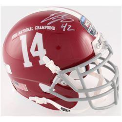 Eddie Lacy Signed 2011 Alabama Crimson Tide National BCS Champions Logo Mini Helmet (Radtke COA)