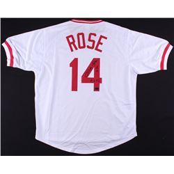 "Pete Rose Signed Jersey Inscribed ""4256"" (Radtke COA)"