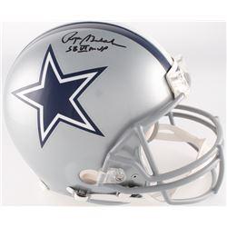 "Roger Staubach Signed Cowboys Full-Size Authentic Pro-Line Helmet Inscribed ""SB VI MVP"" (JSA COA)"