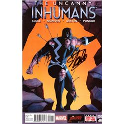 """Stan Lee Signed """"The Uncanny Inhumans"""" Issue #0 Marvel Comic Book (Lee COA)"""