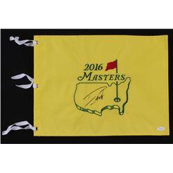 Danny Willett Signed 2016 Masters Tournament Pin Flag (JSA COA)