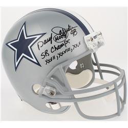 "Daryl ""Moose"" Johnston Signed Cowboys Full-Size Helmet Inscribed ""SB Champs XXVII, XXVIII, XXX"" (Rad"