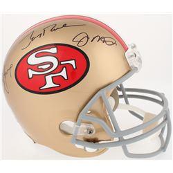 Joe Montana, Jerry Rice  Steve Young Signed 49er Full-Size Helmet (Radtke COA, Rice  Young Hologram)