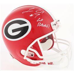 "Lorenzo Carter Signed Georgia Bulldogs Full-Size Helmet Inscribed ""Go Dawgs!"" (Radtke COA)"