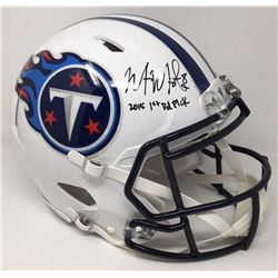 "Marcus Mariota Signed Titans Limited Edition Full-Size Authentic On-Field Speed Helmet Inscribed ""20"