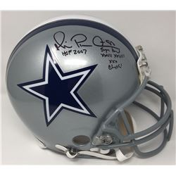 "Michael Irvin Signed Cowboys Limited Edition Full-Size Authentic On-Field Helmet Inscribed ""HOF 2007"
