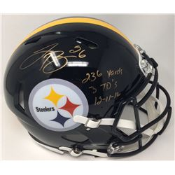 "Le'Veon Bell Signed Steelers Limited Edition Full-Size Authentic On-Field Speed Helmet Inscribed ""23"