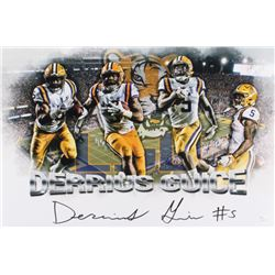 Derrius Guice Signed LSU Tigers 12x18 Photo (JSA Hologram)