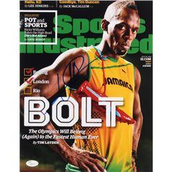 Usain Bolt Signed Team Jamaica 11x14 Photo (JSA COA)