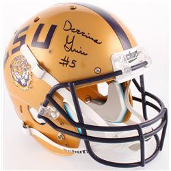 Derrius Guice Signed LSU Tigers Full-Size Helmet (JSA COA)
