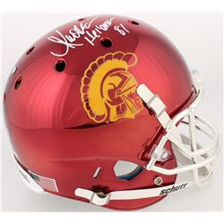 "Marcus Allen Signed USC Trojans Full-Size Red Chrome Helmet Inscribed ""Heisman 81"" (Radtke COA  Alle"