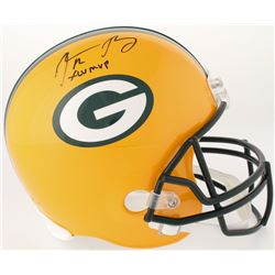 "Aaron Rodgers Signed Green Bay Packers Full-Size Helmet Inscribed ""XLV MVP"" (Steiner Hologram)"