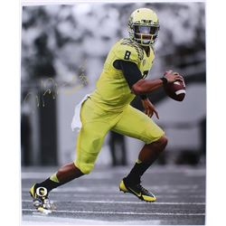 "Marcus Mariota Signed Oregon Ducks 20x24 Limited Edition Photo Inscribed ""Heisman '14"" (Steiner COA)"