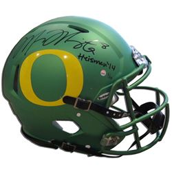 Marcus Mariota Signed Oregon Ducks Limited Edition Full-Size Authentic On-Field Speed Helmet Inscrib