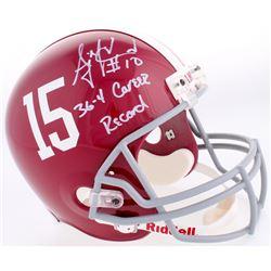 "AJ McCarron Signed Alabama Crimson Tide Full-Size Helmet Inscribed ""36-4 Career Record"" (Radtke COA)"