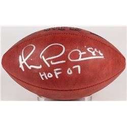 "Michael Irvin Signed NFL Football Inscribed ""HOF 07""  ""Playmaker"" (JSA COA)"