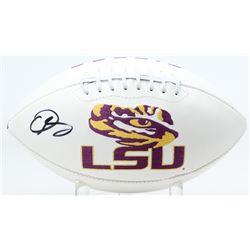 Odell Beckham Jr. Signed LSU Tigers Logo Football (JSA COA)