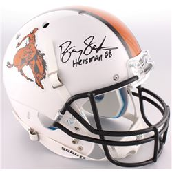 "Barry Sanders Signed Oklahoma State Cowboys Full-Size Throwback Helmet Inscribed ""Heisman 88"" (Radtk"
