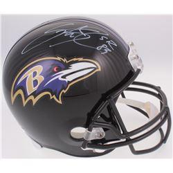 Steve Smith Sr. Signed Baltimore Ravens Full-Size Helmet (Radtke COA)