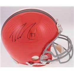 Trent Richardson Signed Cleveland Browns Full-Size Authentic On-Field Helmet (Radtke COA  Richardson