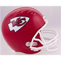 Kareem Hunt Signed Chiefs Full-Size Helmet (JSA COA) (Imperfect)